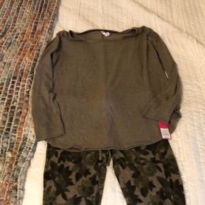 New camo pj set